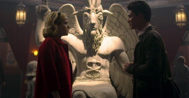 satanic temple statue chilling adventures of sabrina  Credit: Netflix
